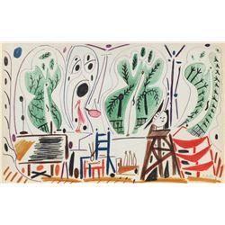 "Pablo Picasso- Lithograph ""Carnet de Californie 27"""