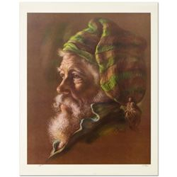 """Virginia Dan (1922-2014), """"Fisherman"""" Limited Edition Lithograph, Numbered and Hand Signed with Lett"""