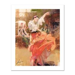 """Pino (1931-2010), """"Flamenco In Red"""" Limited Edition on Canvas, Numbered and Hand Signed with Certifi"""