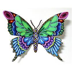 "Patricia Govezensky- Original Painting on Cutout Steel ""Butterfly CCXXXV"""