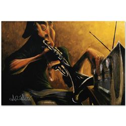 """Urban Tunes"" Limited Edition Giclee on Canvas by David Garibaldi, R Numbered and Signed. This piece"