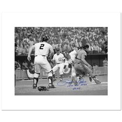 """Pete Rose, Fosse Collision"" Archival Photograph of the 1970 All-Star Game in Cincinnati, Autographe"