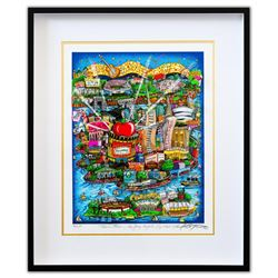 "Charles Fazzino- 3D Construction Silkscreen Serigraph ""There's Music... New Jersey, New York, Long I"