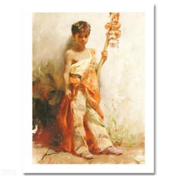"""The Young Peddler"" Limited Edition Giclee by Pino (1939-2010). Numbered and Hand Signed with Certif"