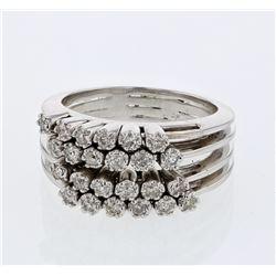 Natural 0.47 CTW Diamond Ring 14K White Gold - REF-97R2K