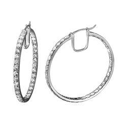 Natural 6.88 CTW Diamond Earrings 14K White Gold - REF-737Y3N