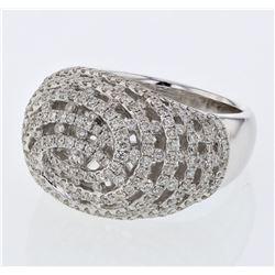 Natural 2.09 CTW Diamond Ring 14K White Gold - REF-257H4W