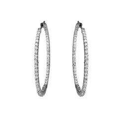 Natural 1.78 CTW Diamond Earrings 14K White Gold - REF-152X3T