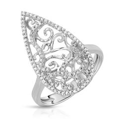 Natural 0.41 CTW Diamond Ring 14K White Gold - REF-61Y2N