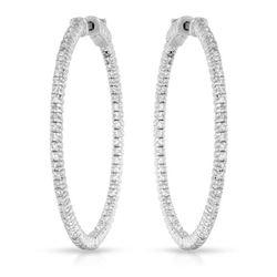 Natural 1.61 CTW Diamond Earrings 14K White Gold - REF-246Y6N
