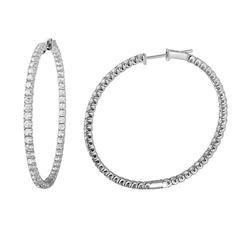 Natural 2.75 CTW Diamond Earrings 14K White Gold - REF-251H3W