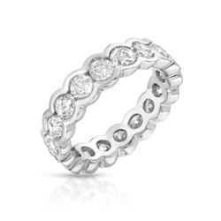 Natural 3.25 CTW Diamond Band Ring 14K White Gold - REF-352Y8N