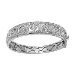 Natural 2 CTW Diamond Bracelet 14K White Gold - REF-378Y9N