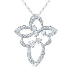 Natural 0.62 CTW Diamond Necklace 18K White Gold - REF-66X6T