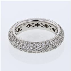 Natural 1.76 CTW Diamond Ring 18K White Gold - REF-221H4W