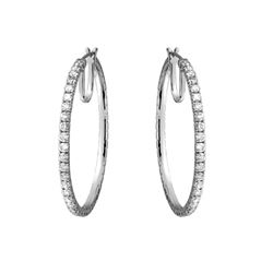 Natural 3.44 CTW Diamond Earrings 14K White Gold - REF-427H5W