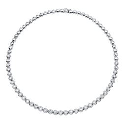 Natural 4.86 CTW Diamond Necklace 14K White Gold - REF-836R3K