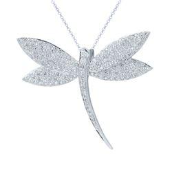 Natural 2.37 CTW Diamond Necklace 14K White Gold - REF-212X4T