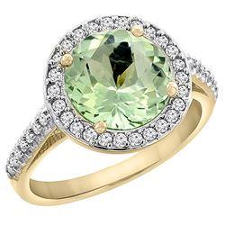 2.44 CTW Amethyst & Diamond Ring 14K Yellow Gold - REF-56H2M