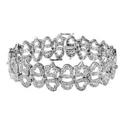 Natural 3.26 CTW Diamond & Bracelet 14K White Gold - REF-375R3K