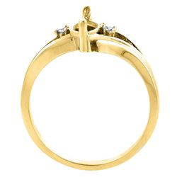1.14 CTW Garnet & Diamond Ring 10K Yellow Gold - REF-23H2M