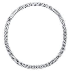 Natural 5.57 CTW Diamond Necklace 14K White Gold - REF-1011X6T