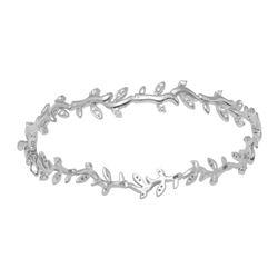 Natural 0.97 CTW Diamond & Bracelet 18K White Gold - REF-193R5K