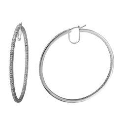 Natural 1.77 CTW Diamond Earrings 14K White Gold - REF-228M6F