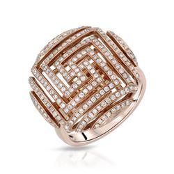 Natural 193 CTW Diamond Ring W=21MM 14K Gold - REF-139Y5N