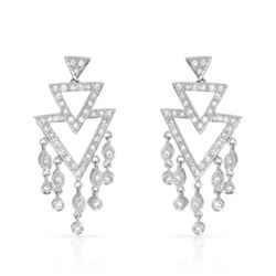 Natural 0.82 CTW Diamond Earrings 18K White Gold - REF-127H8W