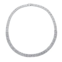 Natural 7.22 CTW Diamond Necklace 18K White Gold - REF-988H2W