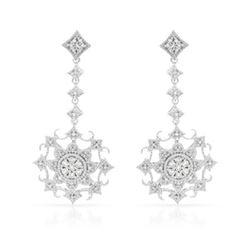 Natural 0.32 CTW Diamond Earrings 14K White Gold - REF-64M8F