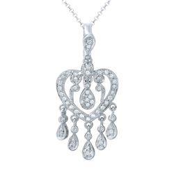 Natural 0.44 CTW Diamond Necklace 14K White Gold - REF-65R7K