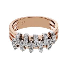 Natural 0.36 CTW Diamond Ring 18K Two Tone Rose Gold - REF-86H4W