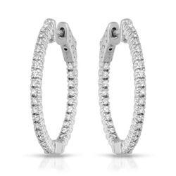 Natural 0.57 CTW Diamond Earrings 14K White Gold - REF-109X8T