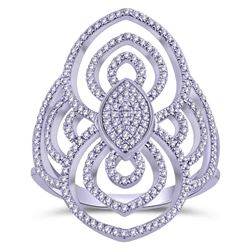 Natural 0.33 CTW Diamond Ring 14K White Gold - REF-45W2H