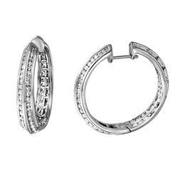 Natural 3.53 CTW Diamond Earrings 14K White Gold - REF-320F4M