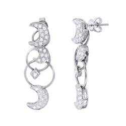 Natural 0.89 CTW Diamond Earrings 18K White Gold - REF-153T2X