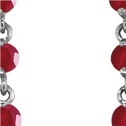 Genuine 10 ctw Ruby & Pearl Earrings 14KT White Gold - REF-37F8Z