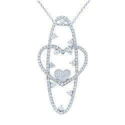 Natural 2.28 CTW Diamond Necklace 14K White Gold - REF-214F2M