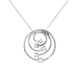 Natural 0.33 CTW Diamond Necklace 14K White Gold - REF-72T2X