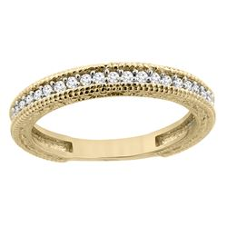 0.15 CTW Diamond Ring 14K Yellow Gold - REF-41X3M