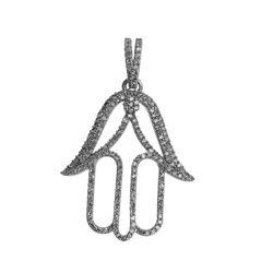 Natural 0.50 CTW Diamond Necklace 14K White Gold - REF-45T2X