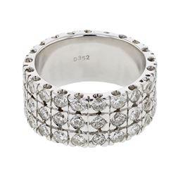 Natural 3.27 CTW Diamond Ring 14K White Gold - REF-362T7X