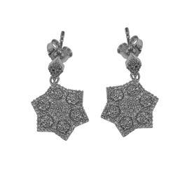 Natural 0.67 CTW Diamond Earrings 14K White Gold - REF-64K8R