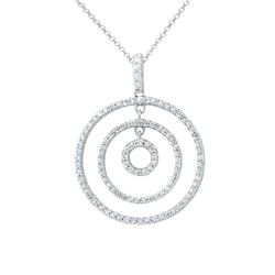 Natural 0.59 CTW Diamond Necklace 14K White Gold - REF-59T4X
