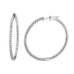 Natural 1.06 CTW Diamond Earrings 14K White Gold - REF-116F3M