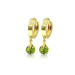 Genuine 2 ctw Peridot Earrings 14KT Yellow Gold - REF-25Y9F