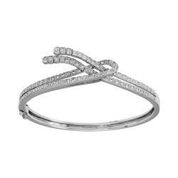 Natural 0.81 CTW Diamond Bracelet 18K White Gold - REF-255W6H