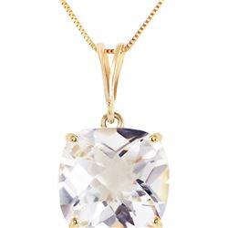 Genuine 3.6 ctw White Topaz Necklace 14KT Yellow Gold - REF-28N9R